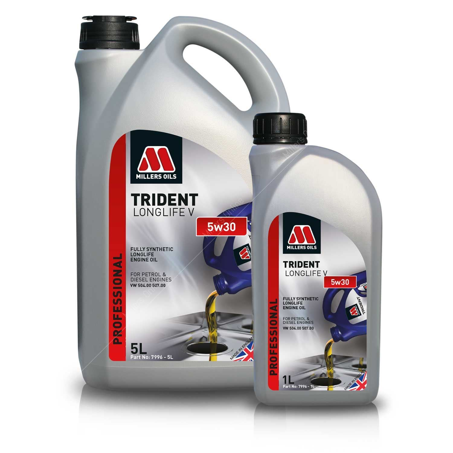 millers oils trident longlife v 5w30 fully synthetic. Black Bedroom Furniture Sets. Home Design Ideas